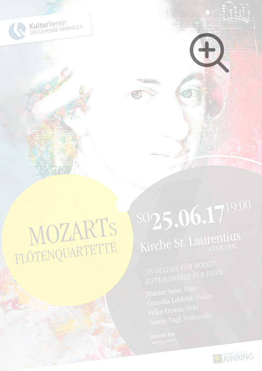 Konzert: Mozarts Flötenquartette