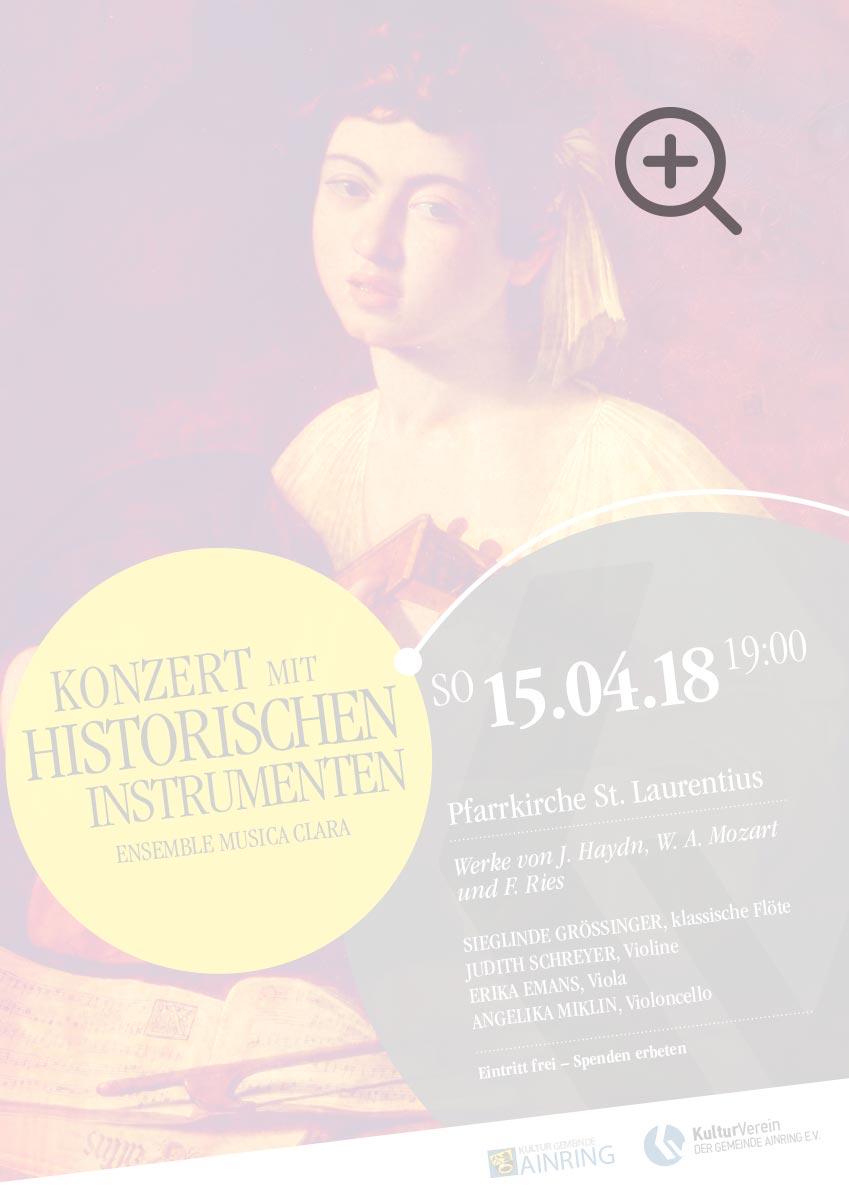 Konzert mit historischen Instrumenten - Ensemble Musica Clara