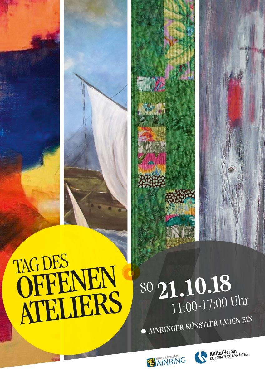 KulturVerein Ainring Tag des offenen Ateliers 2018