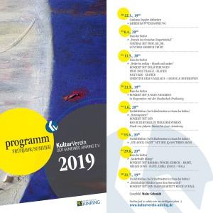 Kulturverein Ainring Halbjahresprogramm Fruehling 2019