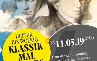 Kulturverein Ainring Plakat Klassik mal anders