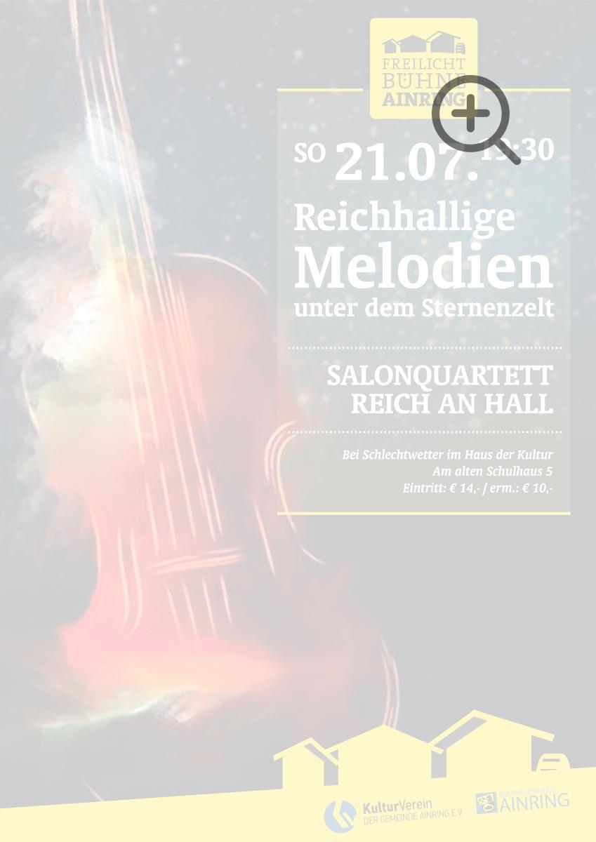 Konzerterlebnis unter dem Sternenhimmel mit dem Salonquartett Reich an Hall